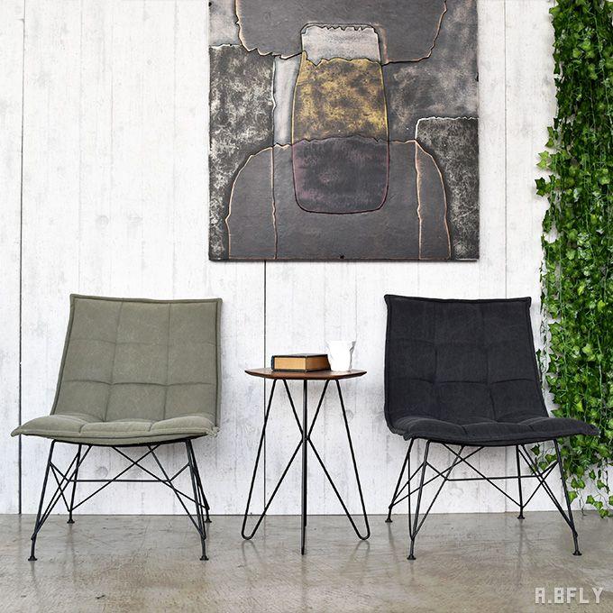 パーソナルチェアー ラウンジチェア 1人掛け 一人用 椅子 いす イス ソファ 幅広 ダイニングチェア 布製 コットン 北欧 レトロ スチール脚 イームズ脚 シャビーシック ミッドセンチュリーモダン インダストリアル ブルックリン アメリカン