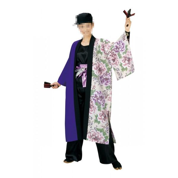長半纏 半纏 祭 祭り衣装 踊り衣装 よさこい 笹印 7901