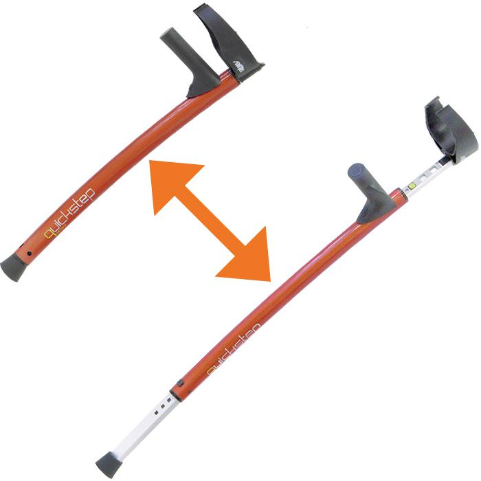 伸縮式 高機能ロフストランド杖 クイックステップ1,2【杖・ステッキ】