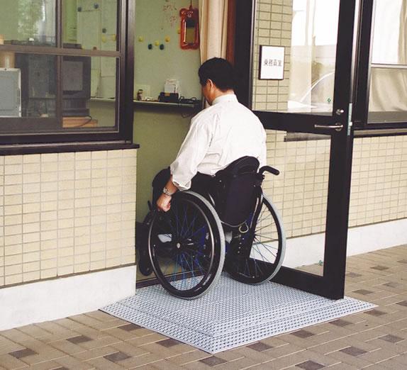 段差解消機(段差スロープ)ブロックビルドスロープ コーナー付き 2cm 車椅子スロープ