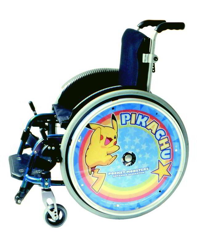 子供用 車いすスポークカバー 18,20インチ用【障がい児用車いす/バンプレスト】