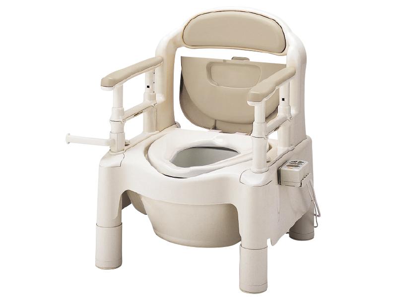 ベージュ(腰掛便座)【ポータブルトイレ/腰掛便座/排泄介護】 ポータブルトイレ安寿 FX-CP