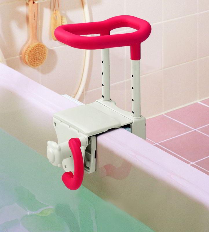 安寿 高さ調節付浴槽手すり UST-130【お風呂用手すり/入浴用介護用品】