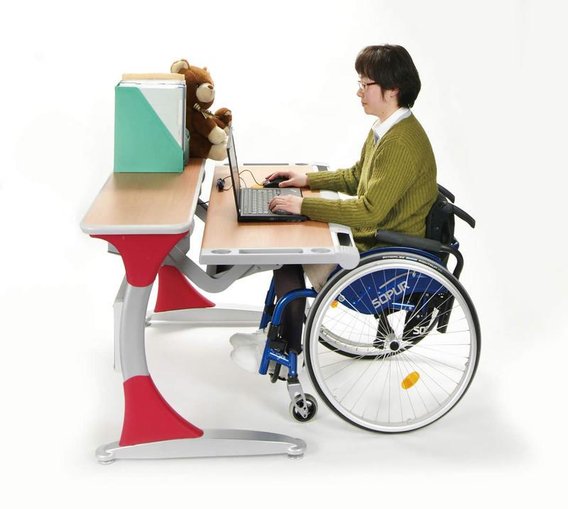 学習・作業机 TUテーブル(デスク)【障がい児用・障がい者用・車椅子用学習机/作業療法テーブル/車いす用テーブル】