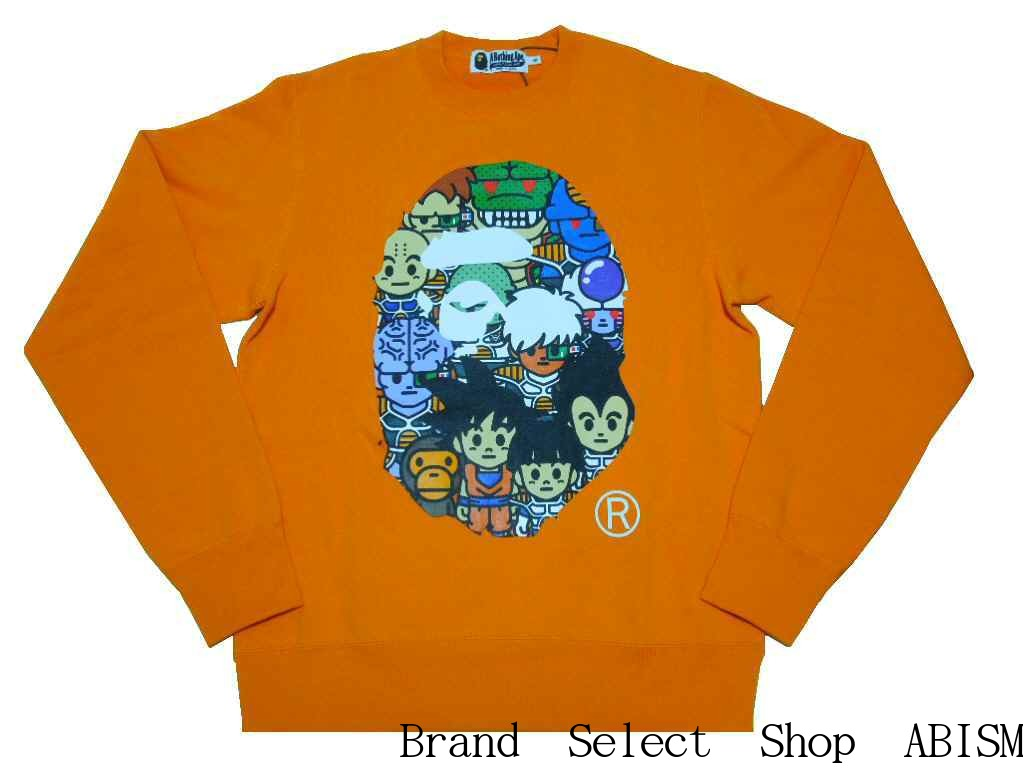 dbfd4708 A BATHING APE (エイプ) xDRAGONBALL Z (dragon ball) BAPE X DRAGON BALL Z  CREWNECK [sweat shirt] [orange] [product made in Japan] [new article] BAPE  (ベイプ)