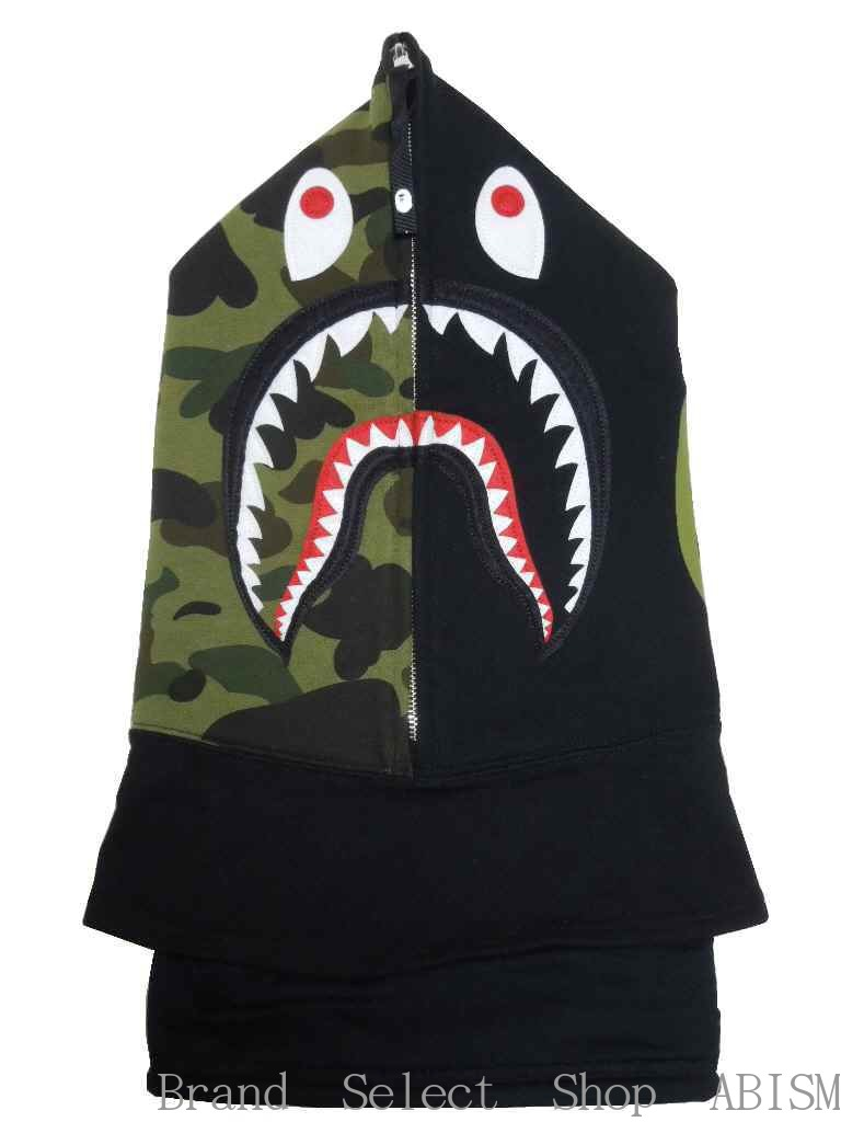 f76b26490ab4 (shark face mask)  black   product made in Japan   new article  BAPE (ベイプ)