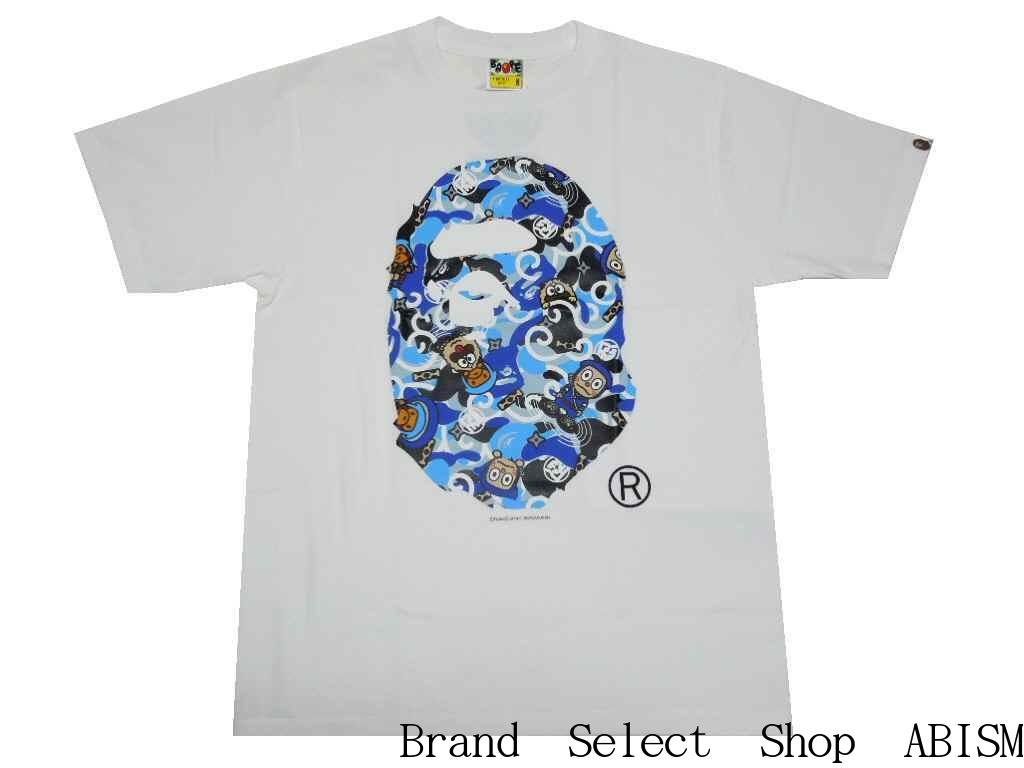 6e72aa17a46f A BATHING APE (エイプ) xHATTORI KUN (ninja Hattori) HATTORI KUN APE HEAD TEE  T -shirt   white   product made in Japan   new article  BAPE (ベイプ)