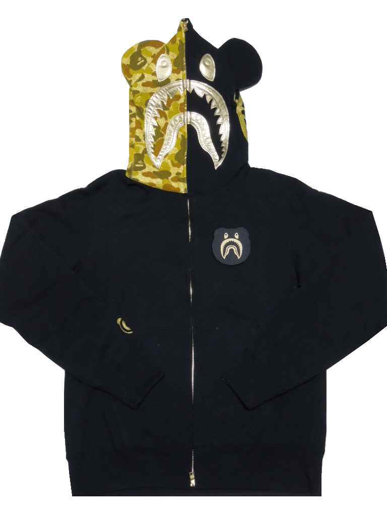 17fd2685 A BATHING APE (エイプ) X MEDICOM TOY (Medicom Toy) SHARK BE@R FULL ZIP HOODIE  シャークベアーフルジップパーカー [black] [product made in Japan] [new article]