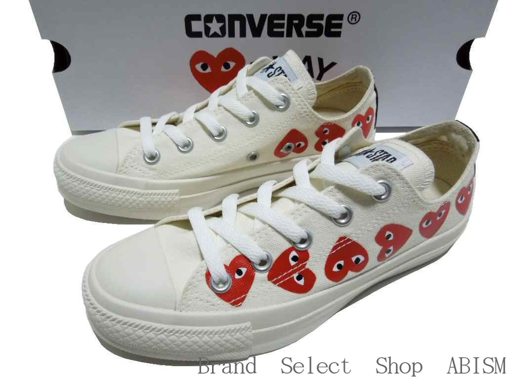 PLAY COMME des GARCONS (プレイコムデギャルソン) It is a collaboration sneaker of と  Converse. It is an icon of PLAY of グル っと nine in the side 0e70359260d5