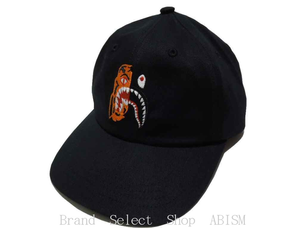 collect on delivery impossibility  A BATHING APE (エイプ) TIGER SHARK PANEL  CAP  black   cap   product made in Japan   new article  BAPE (ベイプ) 40fac42191d4