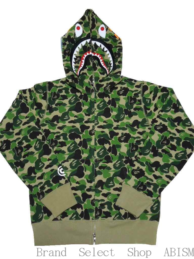 2cfae608 ABC SHARK FULL ZIP HOODIE Shark full zip parka [green CAMO] [new article] [product  made in Japan] BAPE (ベイプ)
