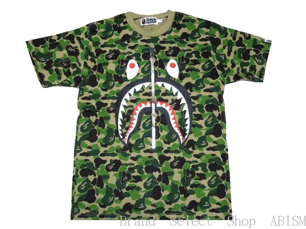 ad457c0b5 [collect on delivery impossibility] A BATHING APE (エイプ) ABC SHARK TEE [T- shirt] [green CAMO] [new article] [MEN'S] [product made in Japan] [BAPE/  ベイプ]