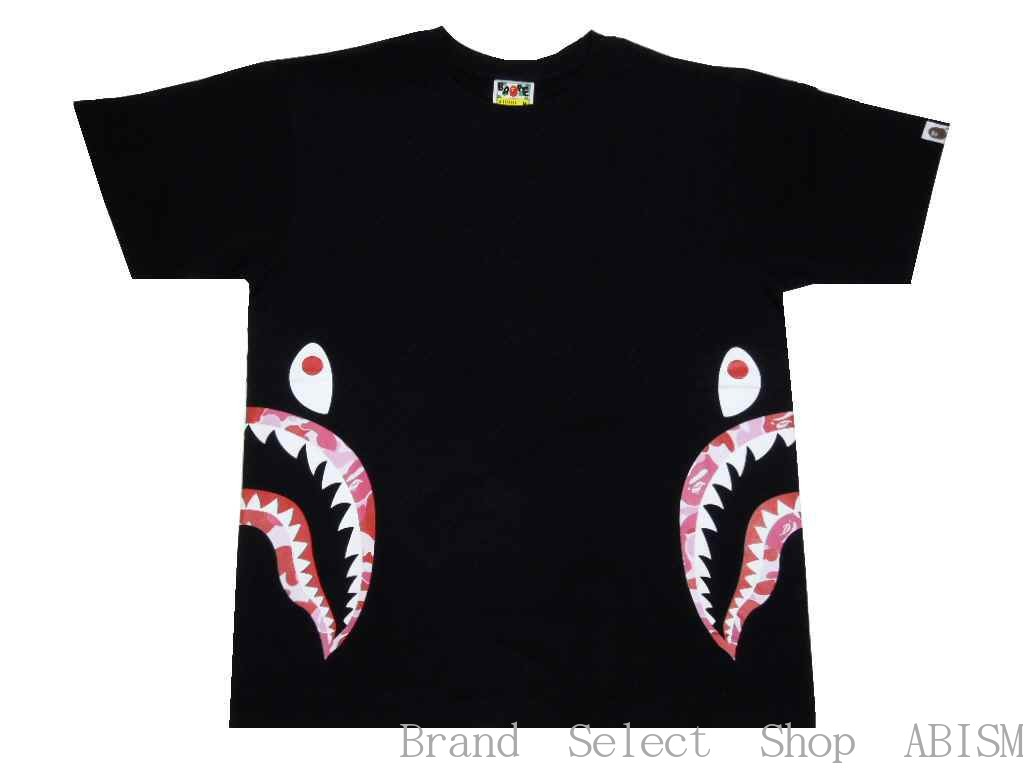 46f651f1a190  collect on delivery impossibility  A BATHING APE (エイプ) ABC SIDE SHARK TEE   T-shirt   black X pink   new article   MEN S   BAPE  ベイプ