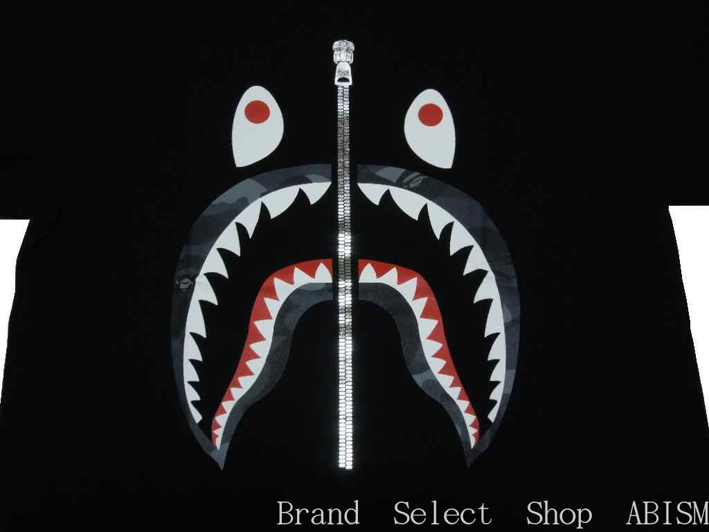 9ad1e797 [collect on delivery impossibility] A BATHING APE (エイプ) COLOR CAMO SHARK TEE  [T-shirt] [black x black CAMO] [new article] [MEN'S] [BAPE/ ベイプ]