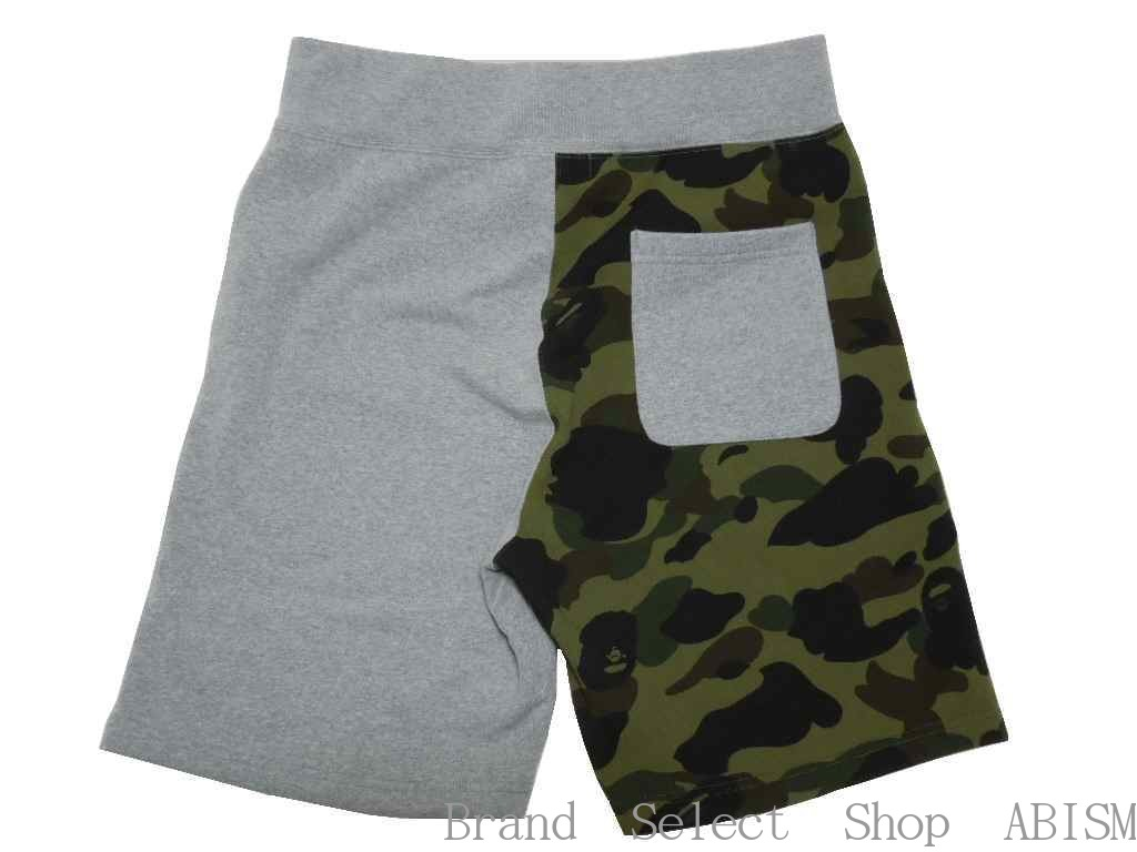 fc80a52315fb A BATHING APE (エイプ) 1ST CAMO SHARK SWEAT SHORTS Shark sweat shirt shorts   gray x green CAMO   new article   product made in Japan   MEN S  BAPE  ベイプ