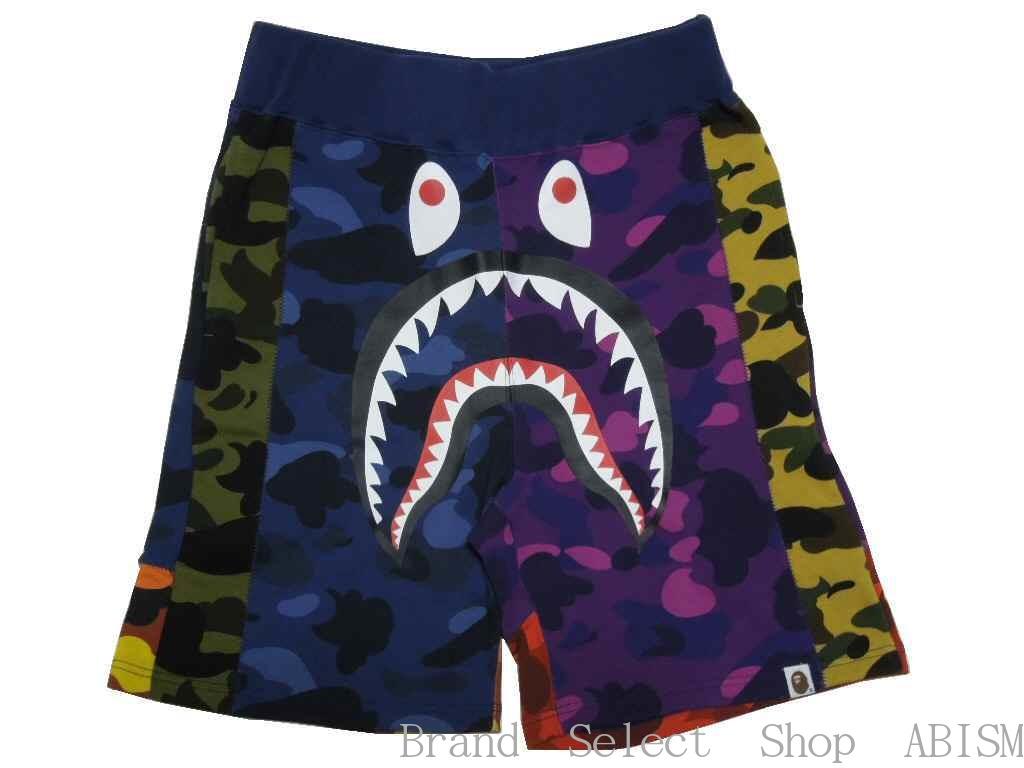 【代引き不可】A BATHING APE(エイプ)MIX CAMO SHARK SWEAT SHORTSシャーク スウェットショーツ 【マルチCAMO】【日本製】【新品】【MENS】BAPE/ベイプ