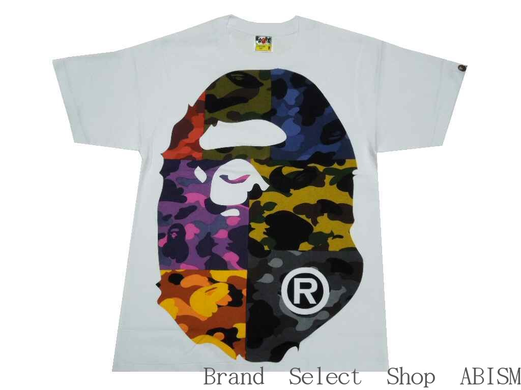 28907bd8 [collect on delivery impossibility] A BATHING APE (エイプ) MIX CAMO BIG BIG  APE HEAD TEE [T-shirt] [white] [new article] [MEN'S] [BAPE/ ベイプ]