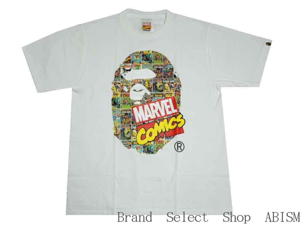 A BATHING APE(エイプ)xMARVEL COMIC(マーベル・コミックス)MARVEL COMIC APE HEAD TEE【Tシャツ】【ホワイト】【日本製】【MEN'S】【新品】BAPE(ベイプ)