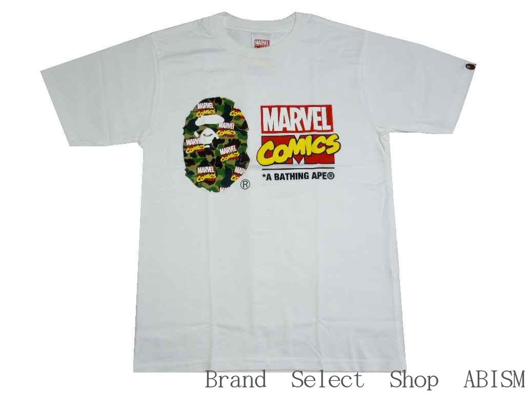 A BATHING APE(エイプ)xMARVEL COMIC(マーベル・コミックス)BAPE MARVEL CAMO TEE【Tシャツ】【ホワイト】【日本製】【MEN'S】【新品】BAPE(ベイプ)