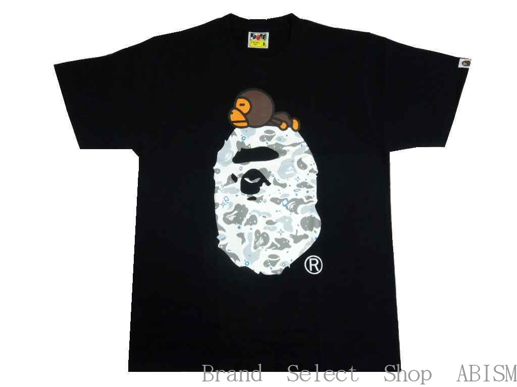 A BATHING APE(エイプ)SPACE CAMO MILO ON BIG APE TEE【Tシャツ】【ブラック】【新品】【MEN'S】【BAPE/ベイプ】