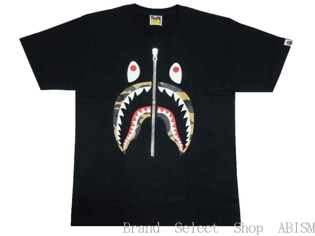 A BATHING APE(エイプ)1ST CAMO SHARK TEE【Tシャツ】【ブラックxイエローCAMO】【新品】【MEN'S】【BAPE/ベイプ】