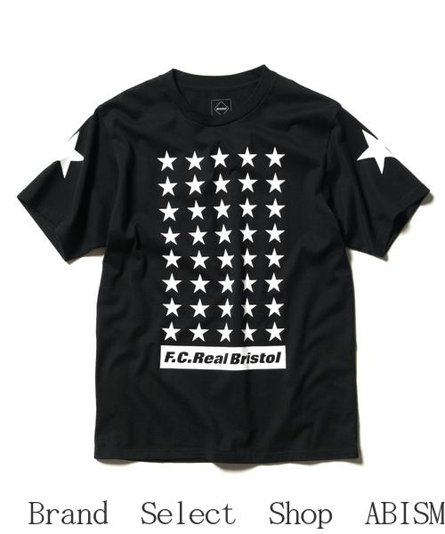 ★メンズサイズ★F.C.R.B.(エフシーアールビー)42 STARS TEE(Tシャツ)【Men's】【ブラック】【新品】SOPHNET. (ソフネット)(FCRB)