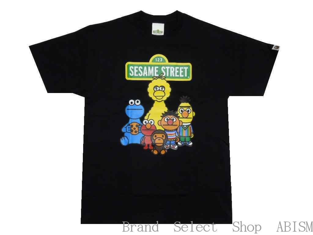 A BATHING APE(エイプ)xSESAME STREET(セサミストリート)BAPE X SESAME STREET CHARACTERS TEE #1【Tシャツ】【ブラック】【新品】【MEN'S】BAPE(ベイプ)