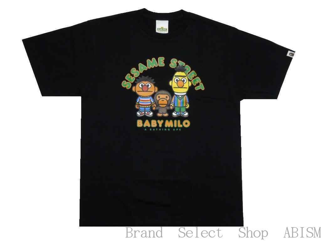 A BATHING APE(エイプ)xSESAME STREET(セサミストリート)BAPE X SESAME STREET MILO & BERT & ERNIE TEE【Tシャツ】【ブラック】【新品】【MEN'S】BAPE(ベイプ)