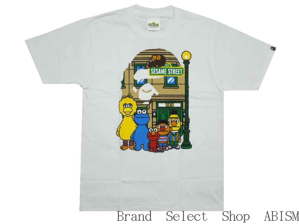A BATHING APE(エイプ)xSESAME STREET(セサミストリート)BAPE X SESAME STREET APE HEAD TEE【Tシャツ】【ホワイト】【新品】【MEN'S】BAPE(ベイプ)