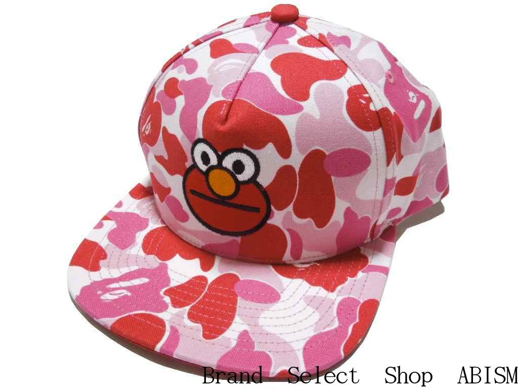 A BATHING APE(エイプ)xSESAME STREET(セサミストリート)BAPE X SESAME STREET ABC CAMO SNAP BACK CAP【スナップバックキャップ】【ピンクCAMO】【新品】【帽子】BAPE(ベイプ)