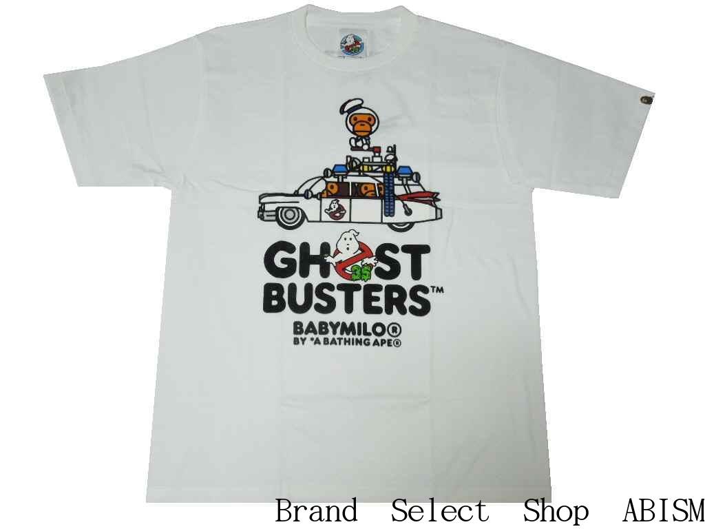 A BATHING APE(エイプ)xGHOSTBUSTERS(ゴーストバスターズ)GHOSTBUSTERS X BABY MILO TEE #3【Tシャツ】【ホワイト】【日本製】【MEN'S】【新品】BAPE(ベイプ)