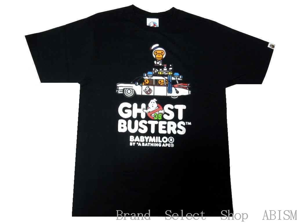 A BATHING APE(エイプ)xGHOSTBUSTERS(ゴーストバスターズ)GHOSTBUSTERS X BABY MILO TEE #3【Tシャツ】【ブラック】【日本製】【MEN'S】【新品】BAPE(ベイプ)