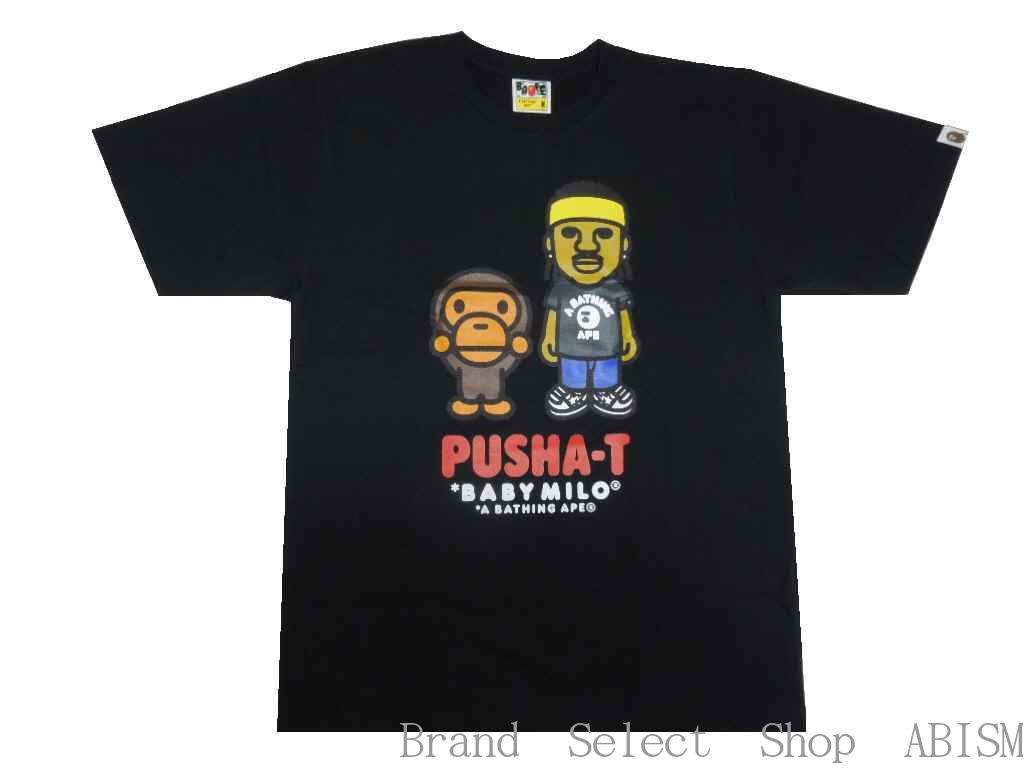 A BATHING APE(エイプ)x PUSHA-T(プシャ・T)PUSHA-T X BAPE BABY MILO TEE【Tシャツ】【ブラック】【新品】【MEN'S】BAPE(ベイプ)