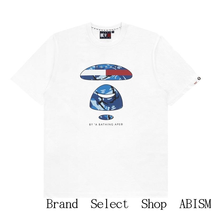 AAPE BY A BATHING APE(エーエイプ バイ ベイシングエイプ)AAPE X T.J LOGO TEE【Tshirt/Tシャツ】【ホワイト】【MEN'S】【新品】