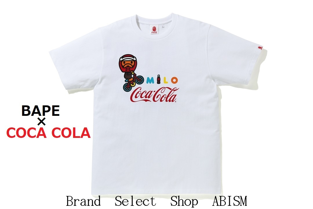 A BATHING APE(エイプ)× COCA-COLA(コカ・コーラ)COCA COLA MILO BMX TEE【Tシャツ】【ホワイト】【新品】【MEN'S】BAPE(ベイプ)