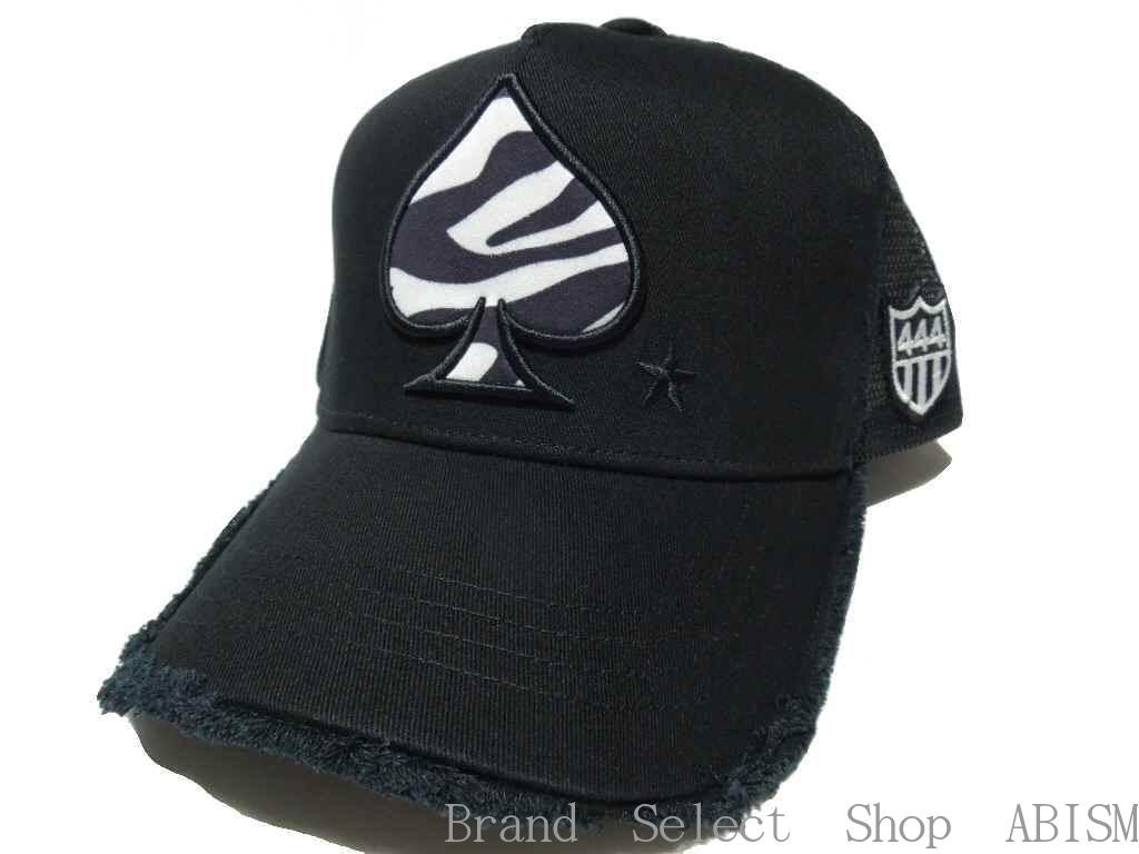 YOSHINORI KOTAKE(ヨシノリコタケ)ゼブラ柄[スペード]ロゴ MESH CAP【メッシュキャップ】【BLACK/ブラック】【新品】