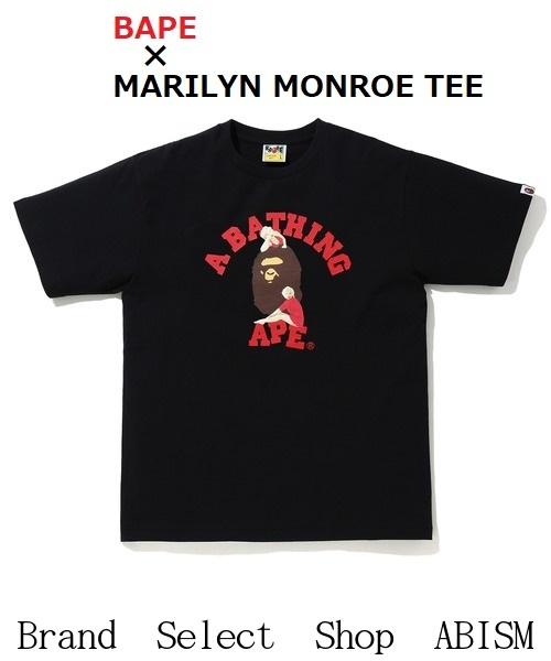 A BATHING APE(エイプ)× Marilyn Monroe(マリリン・モンロー)MARILYN MONROE TEE #7【Tシャツ】【ブラック】【新品】【MEN'S】BAPE(ベイプ)