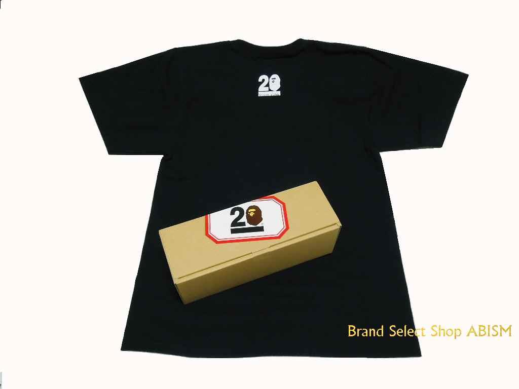A BATHING APE (エイプ) 20 주년 기념 T 셔츠! MASAAKI HOMMA [책 마사 아키] 디자인 TEE BAPE ベイプ mastermind
