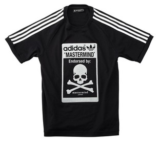신주쿠이 세 탄 한정 판매 제품!! Mastermind JAPAN (마스터 마인드 재팬) × A/O 라스트 협업 글라스 비즈 T 셔츠!
