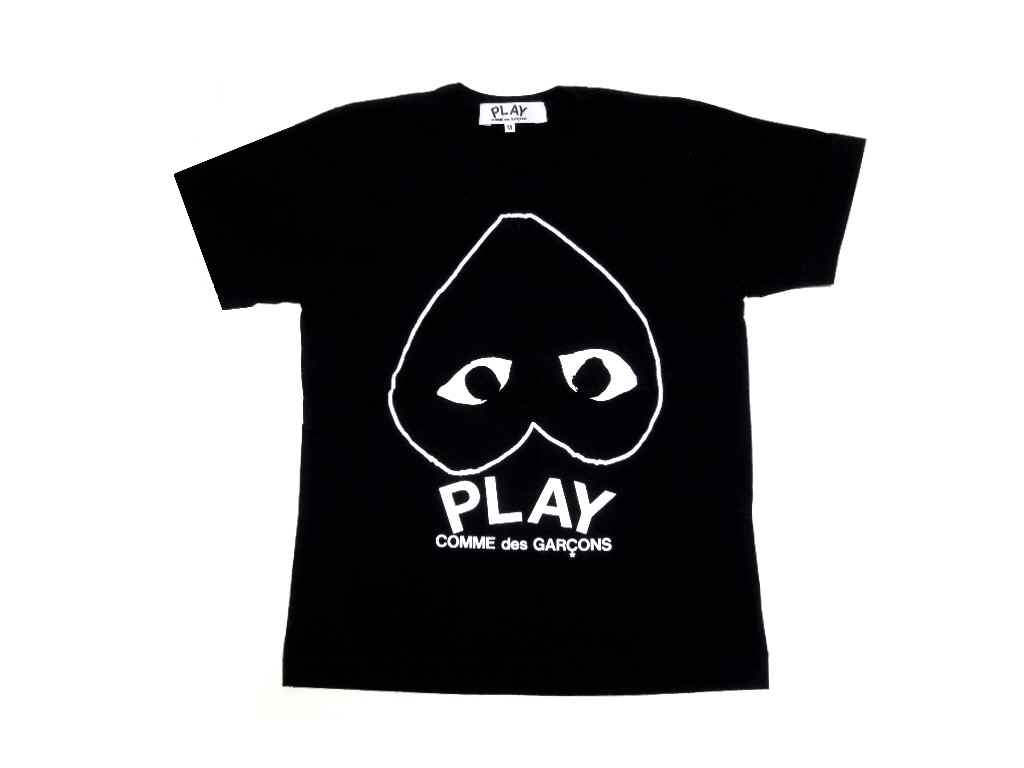 comme des garcons play heart shirt