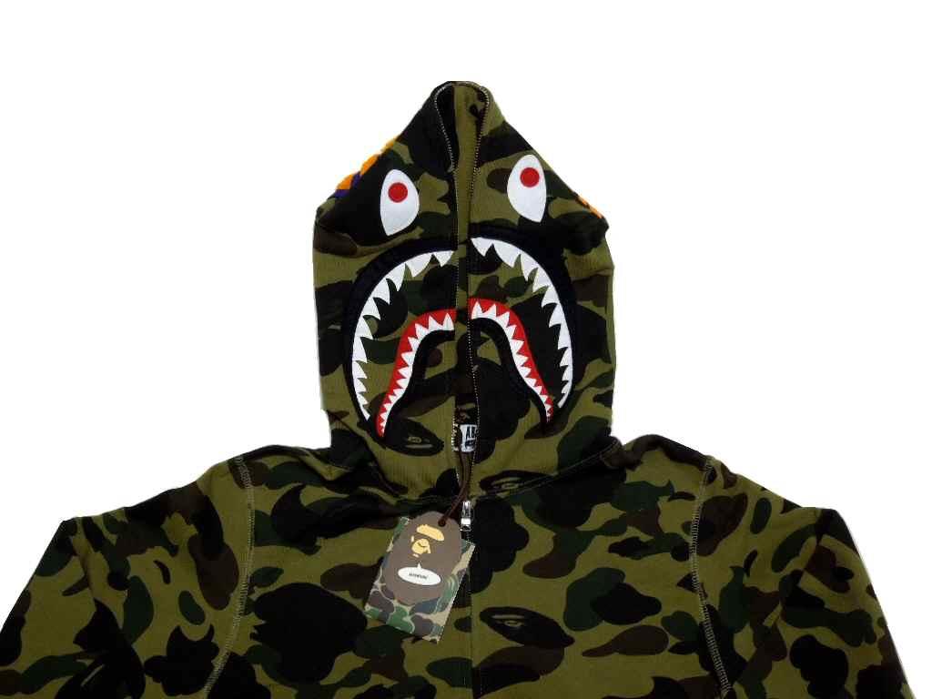 67ec43cf brand select shop abism: A BATHING APE (APE) 1 ST BAPE bape CAMO SHARK FULL  ZIP HOODIE ファーストカモ shark フルジップフーディー (Parker).