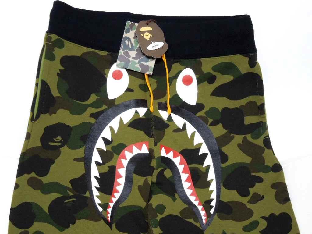 A BATHING APE (エイプ) 1ST CAMO SHARK SWEAT PANTS 퍼스트 오리 상어 스웨트 팬츠 BAPE ベイプ
