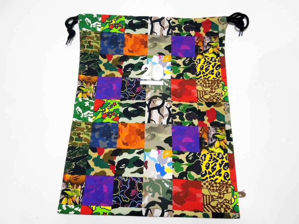A BATHING APE (APE) NW20 ABC CAMO SHARK FULL ZIP HOODIE ABC Camo shark フルジップフーディー (Parker) NW20 specialty DrawString bag with! BAPE bape