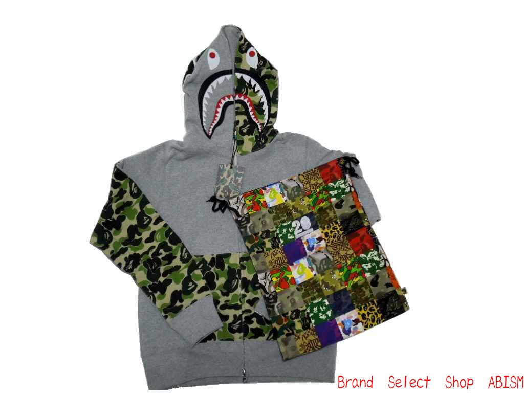 c4b952b2d368 A BATHING APE (APE) NW20 ABC CAMO SHARK FULL ZIP HOODIE ABC Camo shark  フルジップフーディー (Parker) NW20 specialty DrawString bag with! BAPE bape