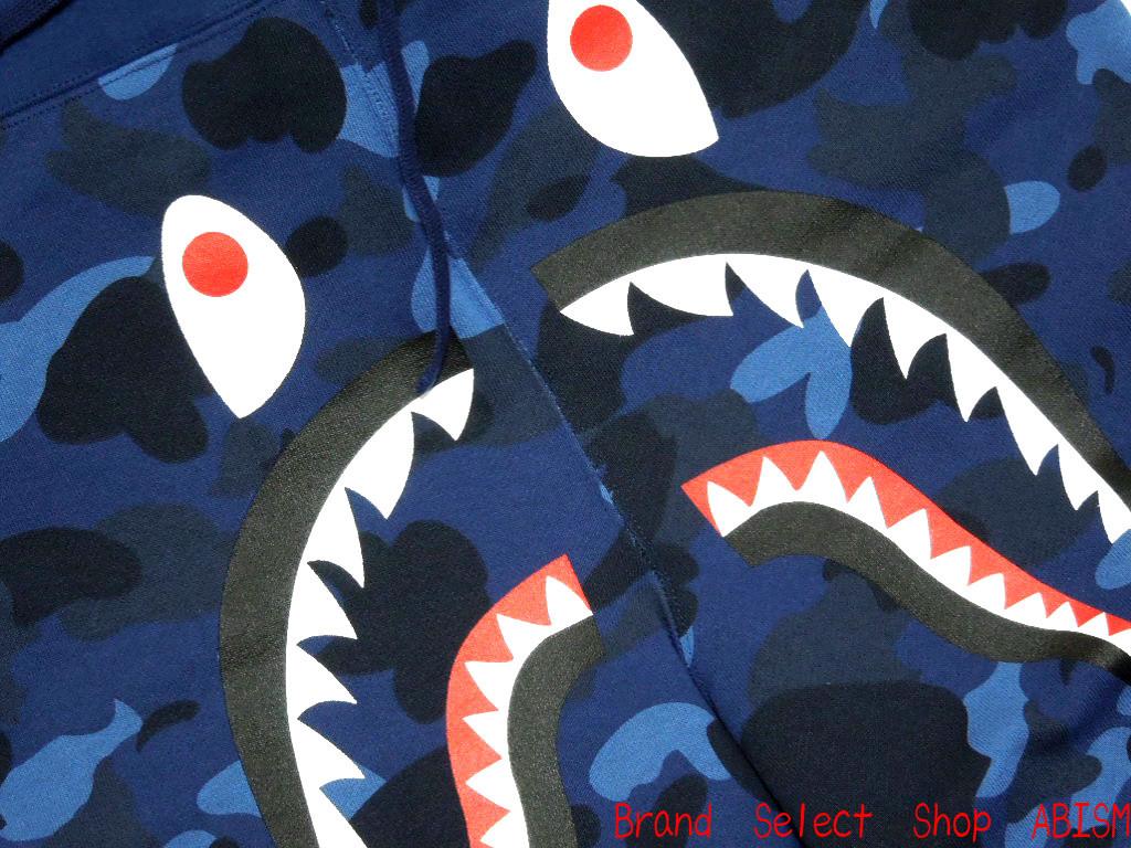 A BATHING APE (エイプ) COLOR CAMO SHARK SWEAT SHORTS 상어 스웨트 반바지 BAPE ベイプ