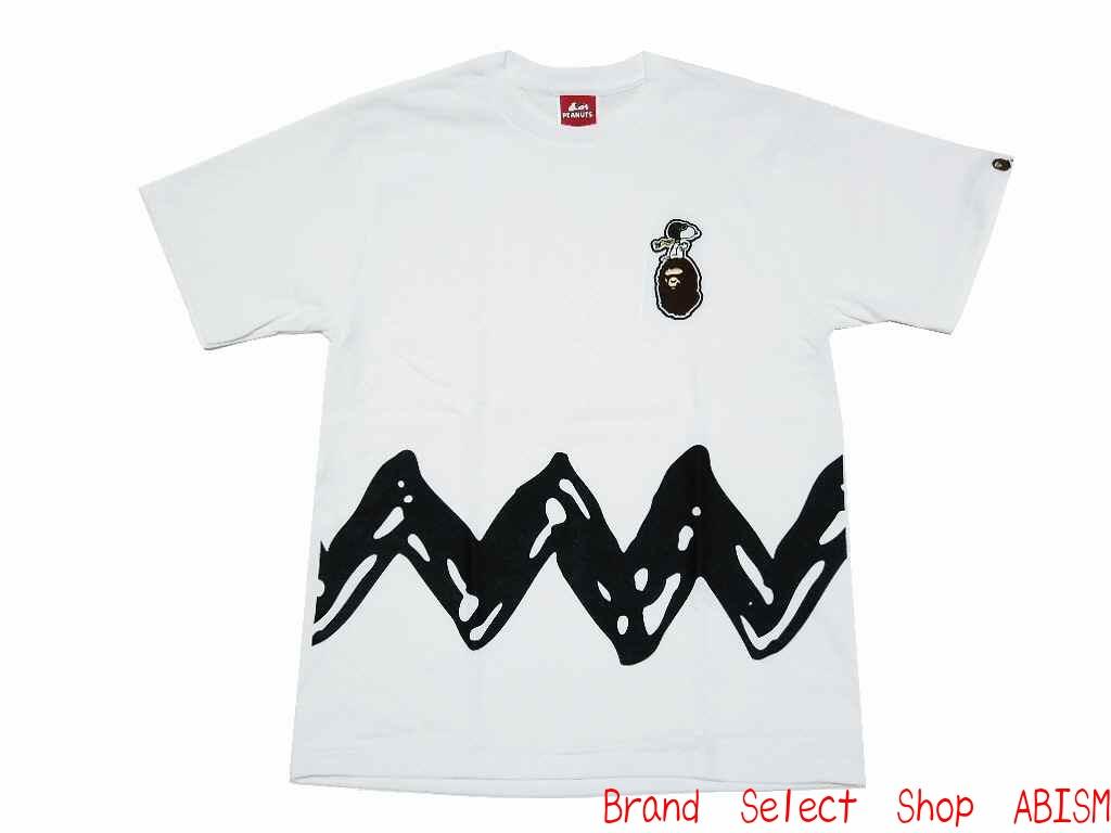49cd9964f82 brand select shop abism  A BATHING APE (APE) xPEANUTS (peanut)  collaboration T shirt TEE CHARLIE BROWN Charlie Brown T shirt BAPE (BAPE)