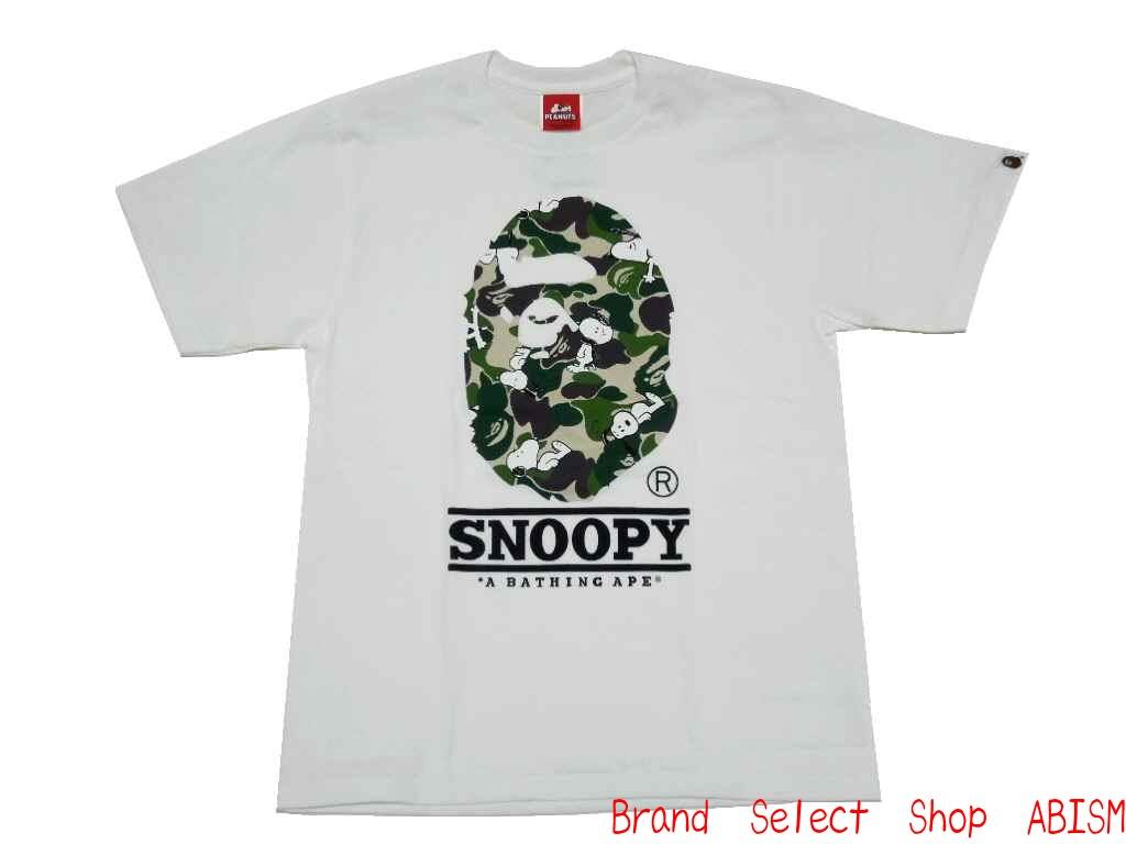 487387955ef brand select shop abism  A BATHING APE (APE) xPEANUTS (peanut)  collaboration T shirts ABC SNOOPY BIG APE HEAD TEE スヌーピーエイプ head T shirts  BAPE (BAPE) ...