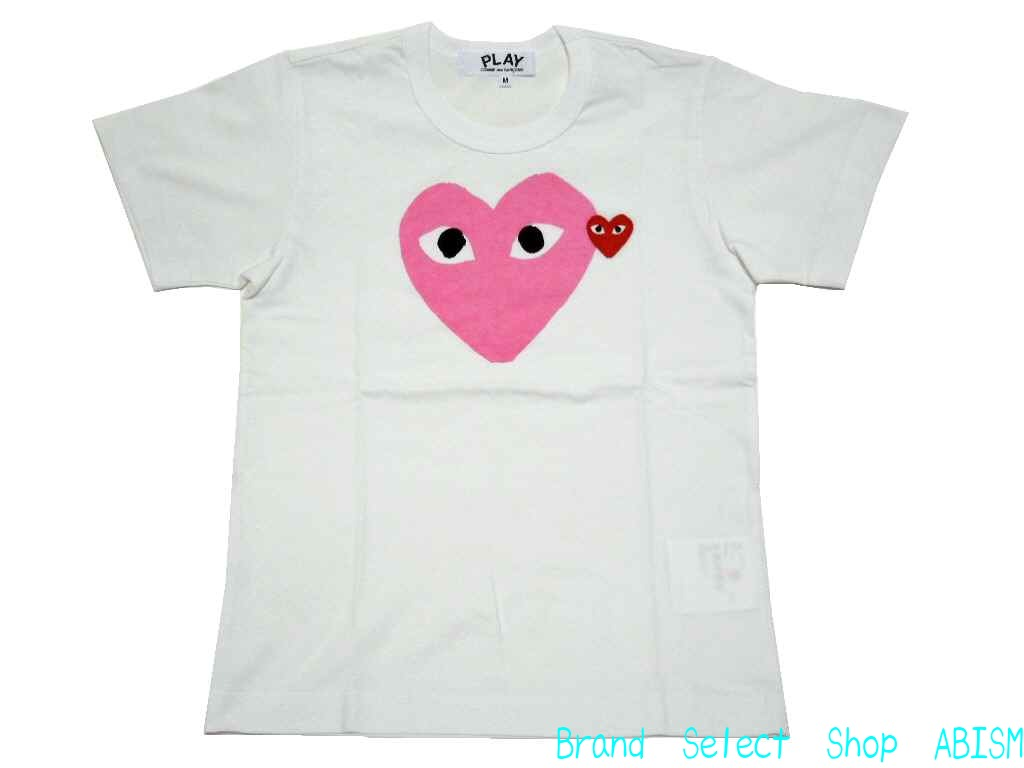 "★ Womens size ★ PLAY COMME des GARCONS (Comme des garcons play) ""pink heart-shirt'"