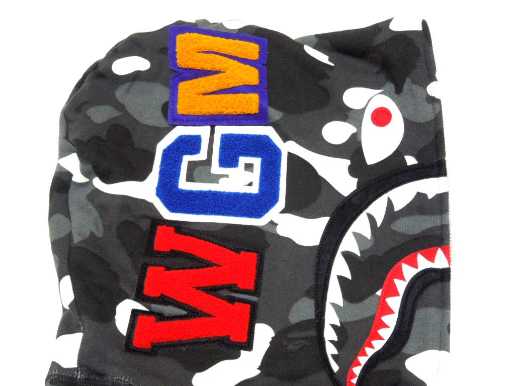 沐浴猿 (猿) bape BAPE2014ss 充分邮编帽衫,城市迷彩鲨鱼鲨鱼全 JP 美食家 (帕克)