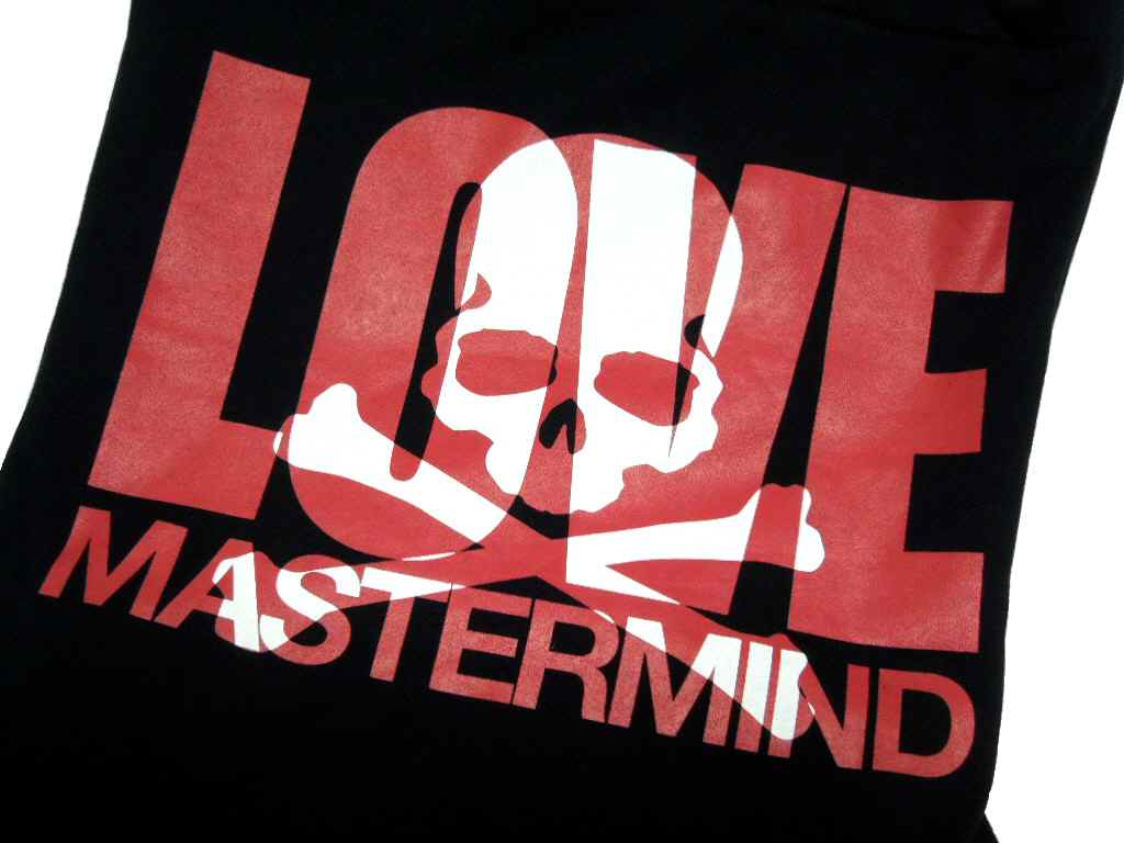 Mastermind JAPAN (마스터 마인드 재팬) 『 EVE THE MASTERMIND FINAL 』 「 mastermind LOVE 」 TOTE BAG (가방) (블랙 x 레드)
